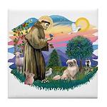 St Francis #2/ Tibetan Span #4 Tile Coaster