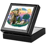 St Francis #2/ Tibetan Span #4 Keepsake Box
