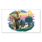 St Francis #2/ Tibetan Span #4 Sticker (Rectangle)