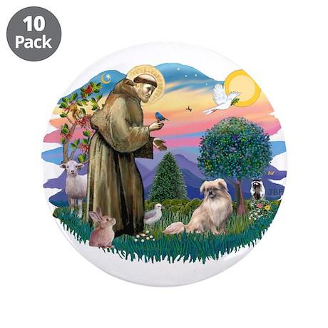 """St Francis #2/ Tibetan Span #4 3.5"""" Button (10 pac"""