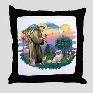 St Francis #2/ Tibetan Span #4 Throw Pillow