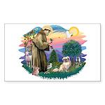 St Francis #2/ Tibetan Span #4 Sticker (Rectangle
