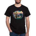 St Francis #2/ Tibetan Span #4 Dark T-Shirt