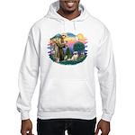 St Francis #2/ Tibetan Span #4 Hooded Sweatshirt