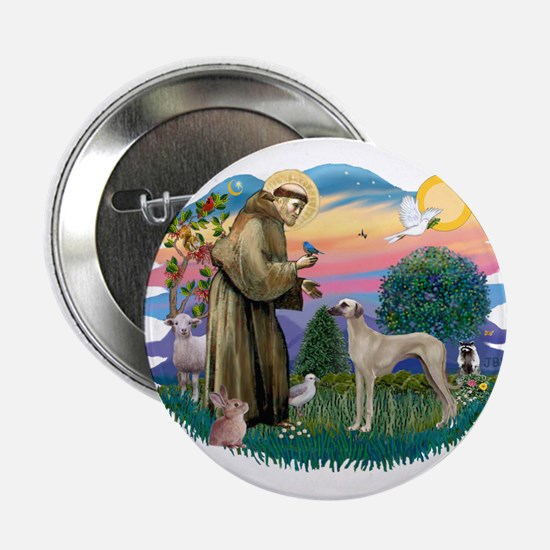 "St Francis #2/ Sloughi 2.25"" Button"