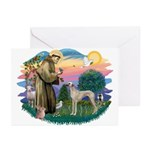 St Francis #2/ Sloughi Greeting Cards (Pk of 20)