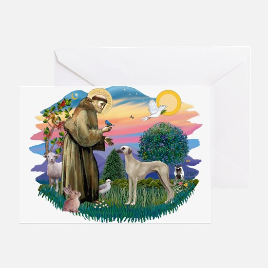 St Francis #2/ Sloughi Greeting Card