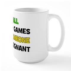 Fun and Games Pregnant Large Mug