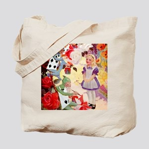 PAINTING THE QUEEN'S ROSES RED Tote Bag