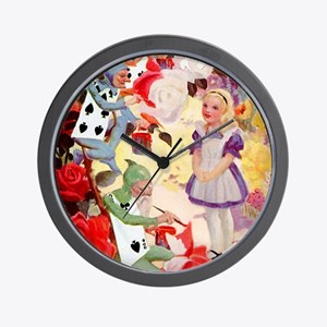 PAINTING THE QUEEN'S ROSES RED Wall Clock