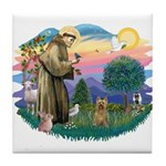 St Francis #2/ Silky (B) Tile Coaster