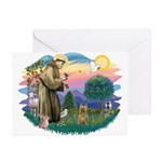 St Francis #2/ Silky (B) Greeting Cards (Pk of 20)