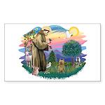 St Francis #2/ Silky (B) Sticker (Rectangle)