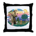St Francis #2/ Silky (B) Throw Pillow