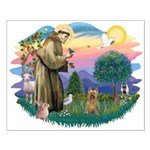St Francis #2/ Silky (B) Small Poster