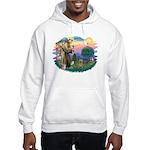 St Francis #2/ Silky (B) Hooded Sweatshirt