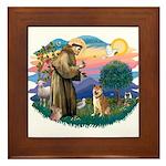 St Francis #2/ Shiba Inu Framed Tile