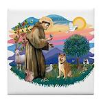St Francis #2/ Shiba Inu Tile Coaster
