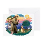 St Francis #2/ Shiba Inu Greeting Cards (Pk of 20)