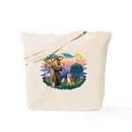 St Francis #2/ Shiba Inu Tote Bag