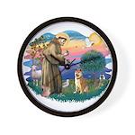 St Francis #2/ Shiba Inu Wall Clock