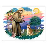 St Francis #2/ Shiba Inu Small Poster