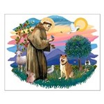 St Francis #2/ Shiba Inu Small Poster