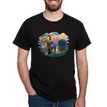 St Francis #2/ Shiba Inu Dark T-Shirt