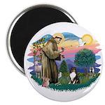 St Francis #2/ Sheltie (tri) Magnet
