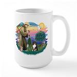 St Francis #2/ Sheltie (tri) Large Mug