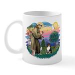 St Francis #2/ Sheltie (tri) Mug