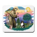 St Francis #2/ Sheltie (tri) Mousepad