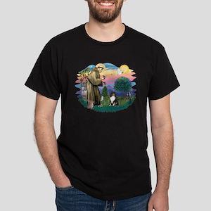 St Francis #2/ Sheltie (tri) Dark T-Shirt