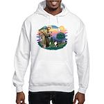 St Francis #2/ Sheltie (tri) Hooded Sweatshirt