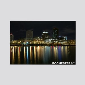 Rochester NY Skyline Rectangle Magnet