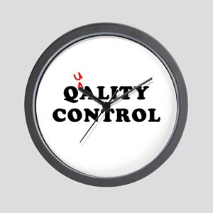 Qality Control Wall Clock