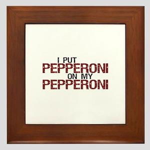 Pepperoni on Pepperoni Framed Tile