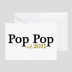 New Pop Pop 2011 Greeting Card