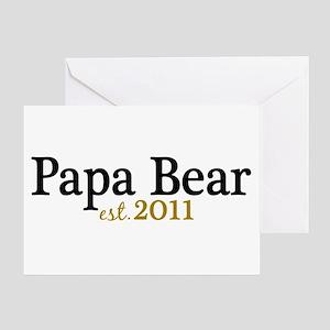 New Papa Bear 2011 Greeting Card