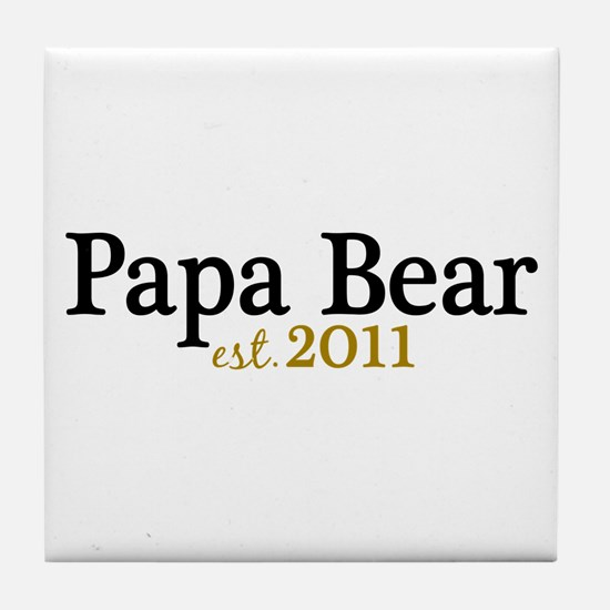 New Papa Bear 2011 Tile Coaster