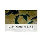 U.P. North Life Rectangle Magnet