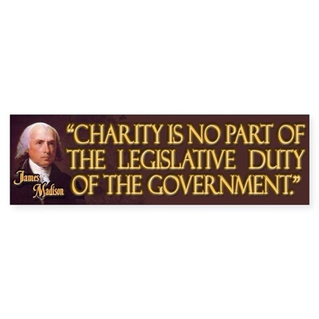 James Madison on Charity Sticker (Bumper)