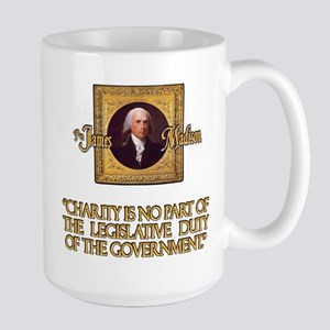 James Madison on Charity Large Mug