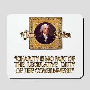 James Madison on Charity Mousepad
