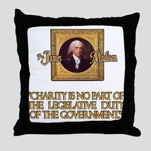 James Madison on Charity Throw Pillow