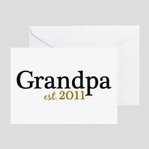 New Grandpa 2011 Greeting Card
