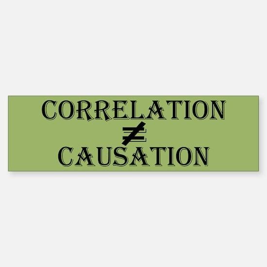 Correlation Causation Sticker (Bumper)