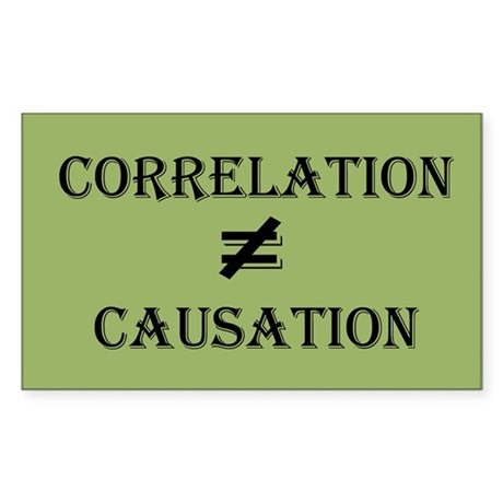 Correlation Causation Sticker (Rectangle)