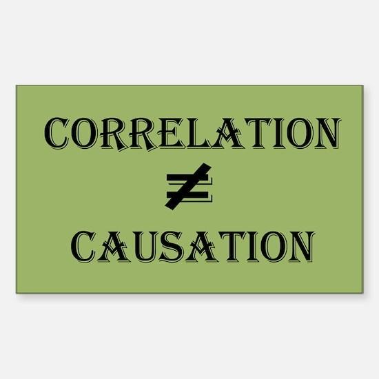 Correlation Causation Sticker (Rectangle)