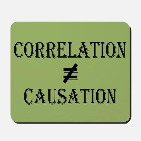 Correlation Causation Mousepad